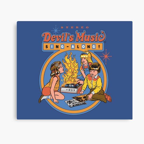 Devil's Music Sing-Along Canvas Print