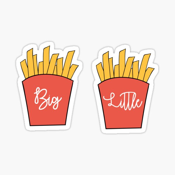 Big Little French Fries Sticker