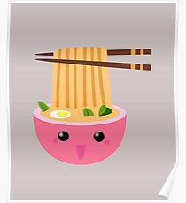Anime Noodle Kawaii Poster