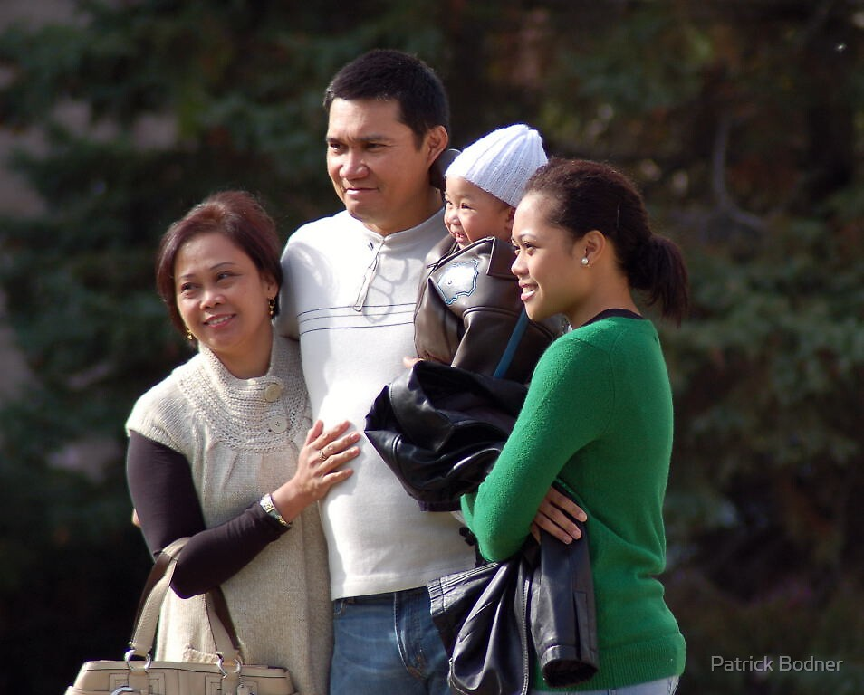 Beautiful Family at Church by Patrick Bodner