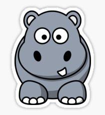 Cartoon Hippo Sticker
