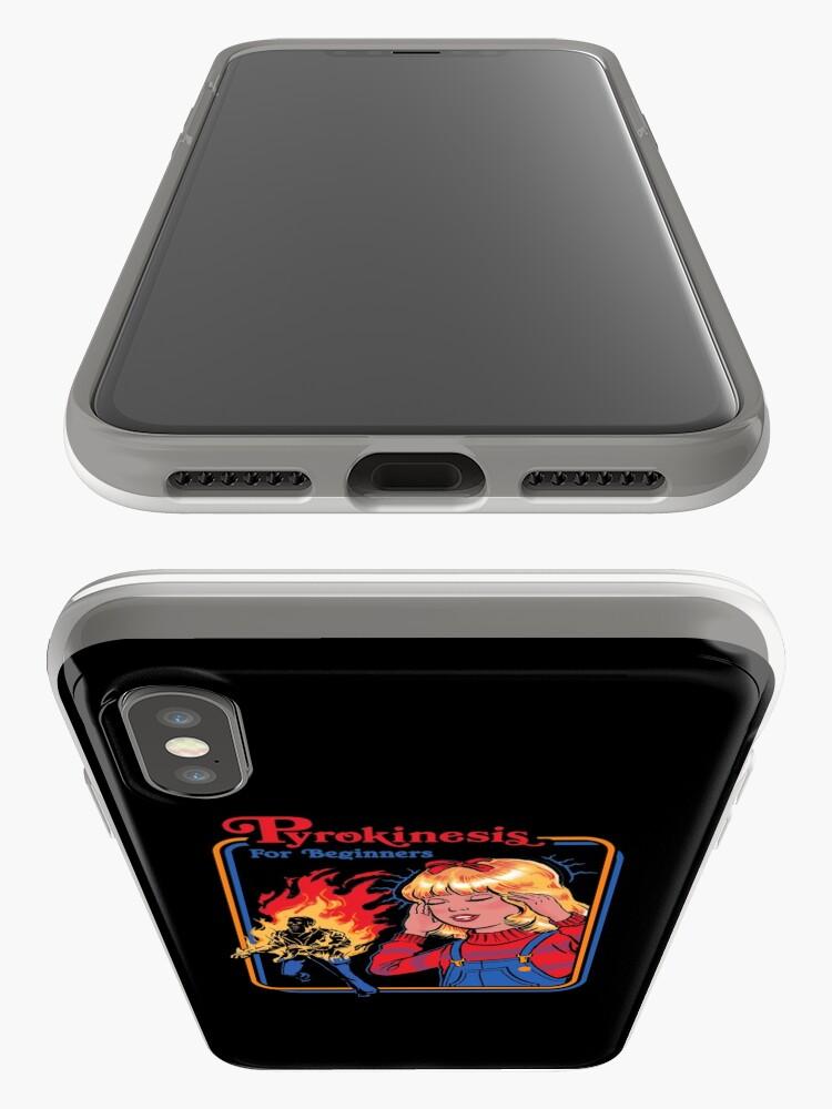 Vista alternativa de Funda y vinilo para iPhone Pyrokinesis para principiantes