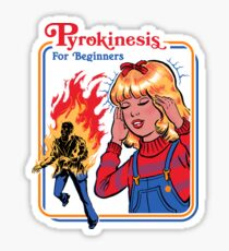 Pyrokinesis for Beginners Sticker