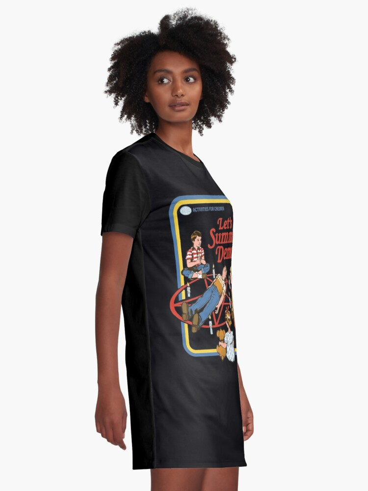 Alternate view of Let's Summon Demons Graphic T-Shirt Dress