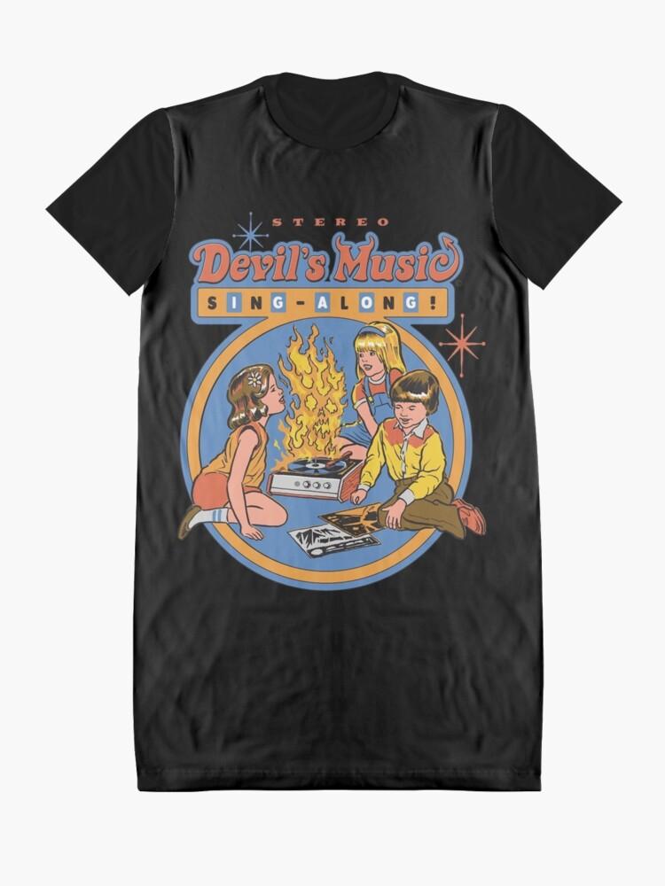 Alternative Ansicht von Teufelsmusik Sing-Along T-Shirt Kleid