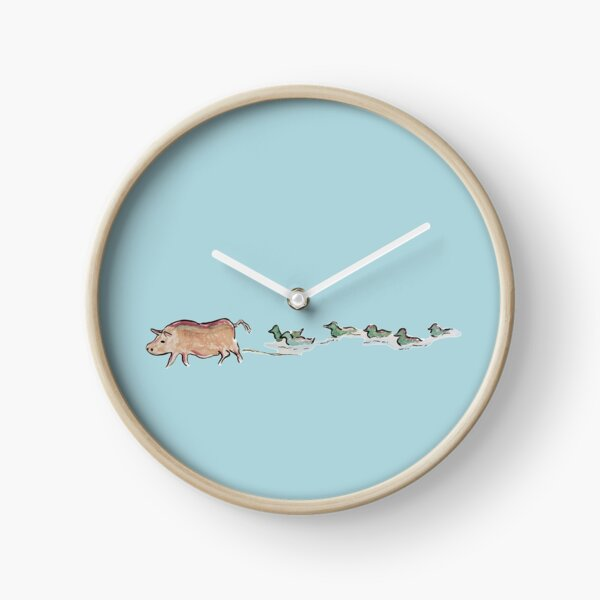In Blue - Pig & Ducks: Taking different paths, but together in the same direction. Clock