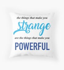 """""""The Things That Make You Strange Are the Things that Make You Powerful"""" Ben Platt Acceptance Speech  Throw Pillow"""