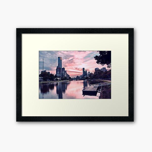 Enjoying Beautiful Melbourne City Framed Art Print