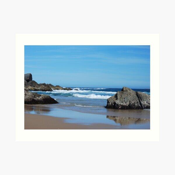 Low Tide - Redhead Beach NSW Art Print