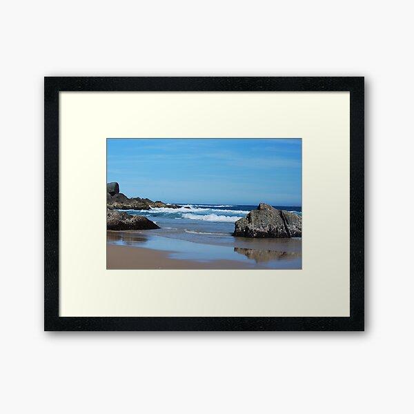 Low Tide - Redhead Beach NSW Framed Art Print