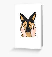 German shepherd greeting cards redbubble funny chubby cheeks german shepherd greeting card m4hsunfo