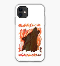 HOWL - WILD WOLF IN SILHOUETTE  iPhone Case