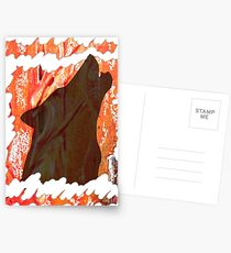 HOWL - WILD WOLF IN SILHOUETTE  Postcards