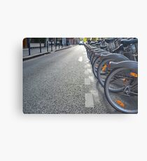 Bicycles in Paris Metal Print