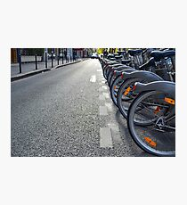 Bicycles in Paris Photographic Print