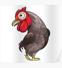 Rooster Cartoon Character Poster