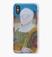 Larry David as the Mona Lisa iPhone Case/Skin