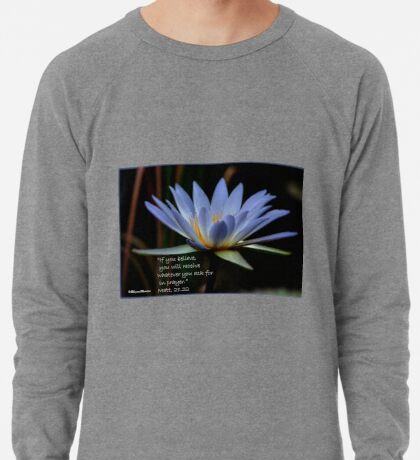 THE BLUE WATERLILY – Nymphaea nouchall Lightweight Sweatshirt