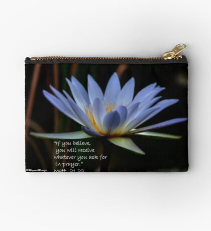 THE BLUE WATERLILY – Nymphaea nouchall Studio Pouch