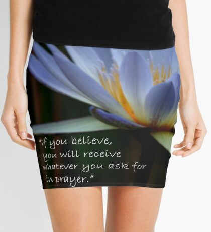 THE BLUE WATERLILY – Nymphaea nouchall Mini Skirt