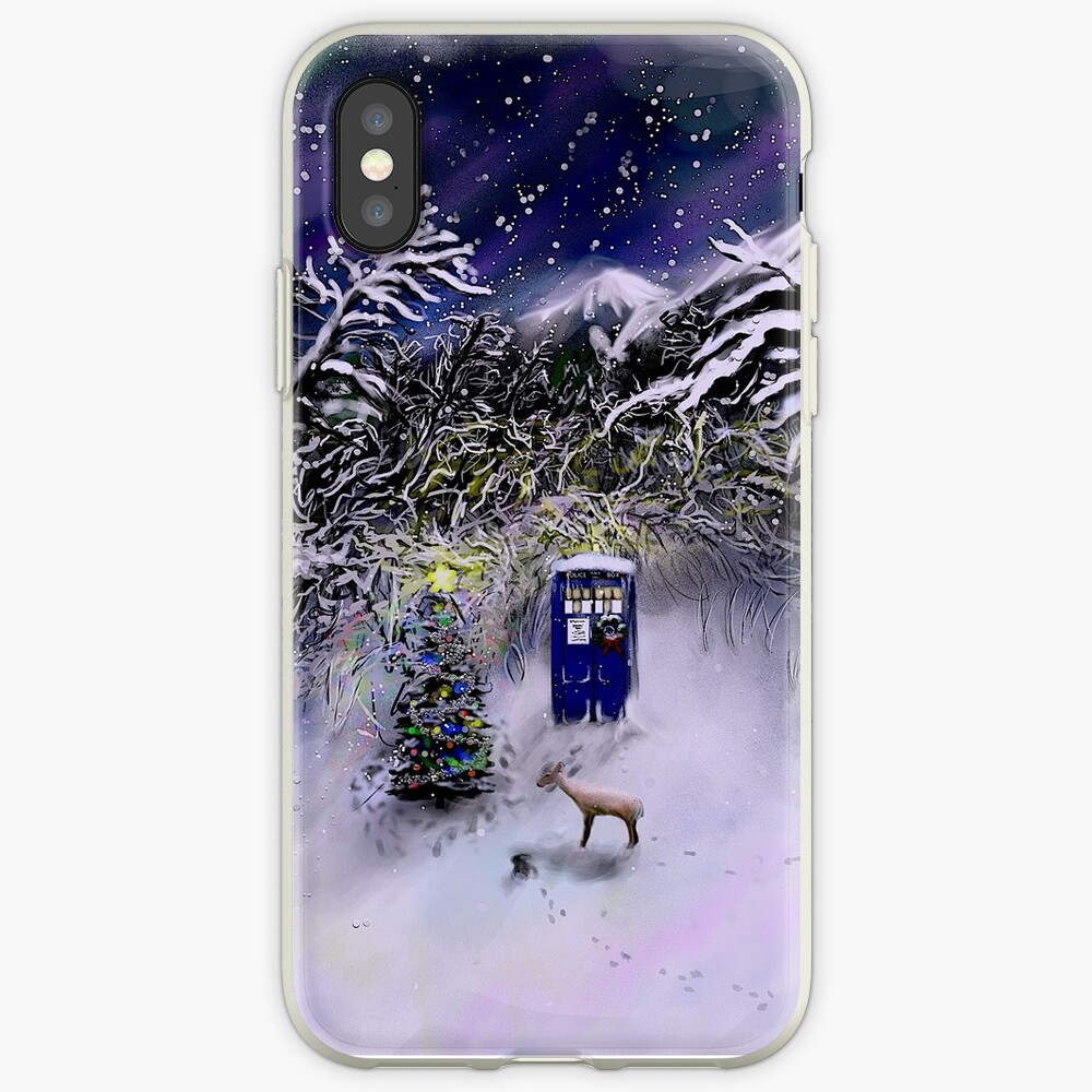 Weihnachten TARDIS iPhone-Hülle & Cover