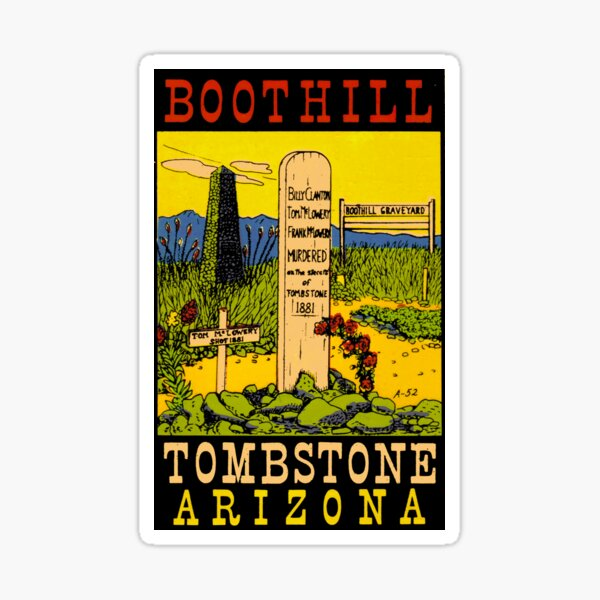 Boothill Tombstone Arizona Vintage Travel Decal Sticker