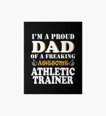 Lámina de exposición Regalos de papá del amaestrador atlético - Soy un papá orgulloso de un Freaking Awesome