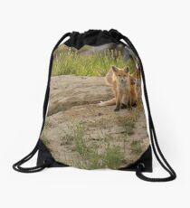 Fox Family Drawstring Bag