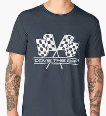 Pave the Bay Checkered Flags - Funny Racing (White) Men's Premium T-Shirt