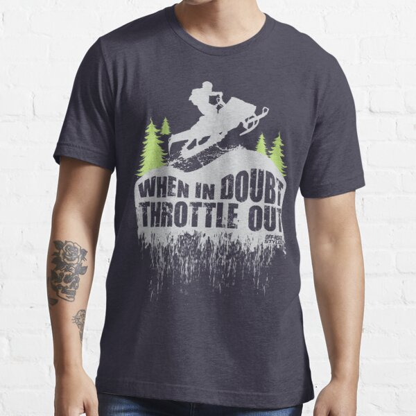 Snowmobile Throttle Out Essential T-Shirt