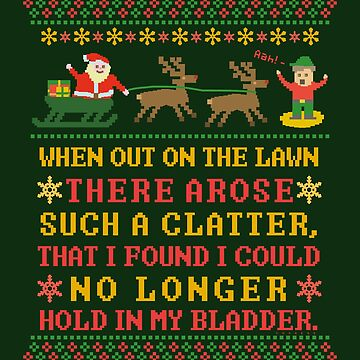 Funny Twas the Night Before Christmas Humorous 8 Bit by emkayhess