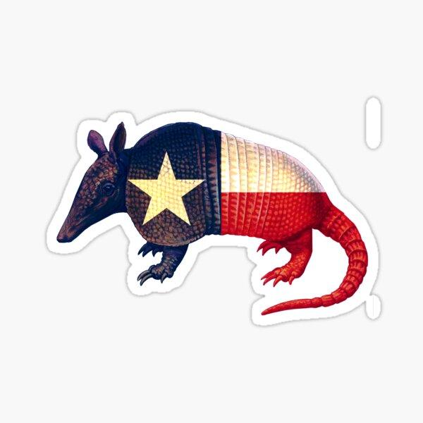 Armadillo Texas Lone Stare Flag, Texan Pride Gifts Sticker