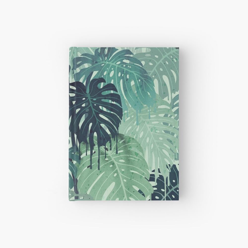 Monstera Melt (in Green) Hardcover Journal