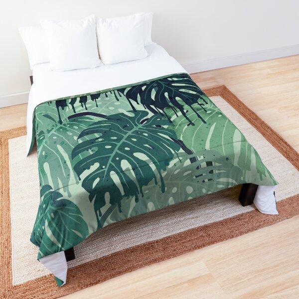 Monstera Melt (in Green) Comforter