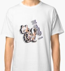 8-bit Mewtwo Design with Japanese Text Classic T-Shirt