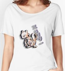 8-bit Mewtwo Design with Japanese Text Women's Relaxed Fit T-Shirt