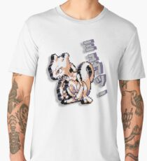 8-bit Mewtwo Design with Japanese Text Men's Premium T-Shirt