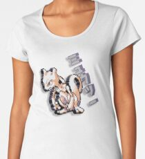 8-bit Mewtwo Design with Japanese Text Women's Premium T-Shirt