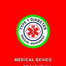 """Medical device"" phone case (red) by David Burren"