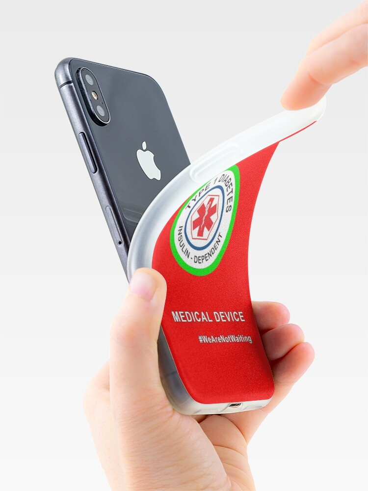 """Alternate view of """"Medical device"""" phone case (red) iPhone Case & Cover"""