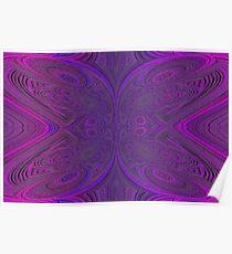 Digital Butterfly Purple Pink 1 Poster