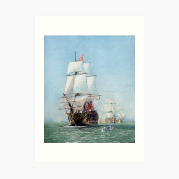 Erste Reise des HMS Victory Kunstdruck