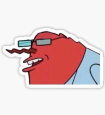Mr. Krabs Hannibal Buress Meme Sticker