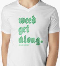 Weed Get Along Men's V-Neck T-Shirt