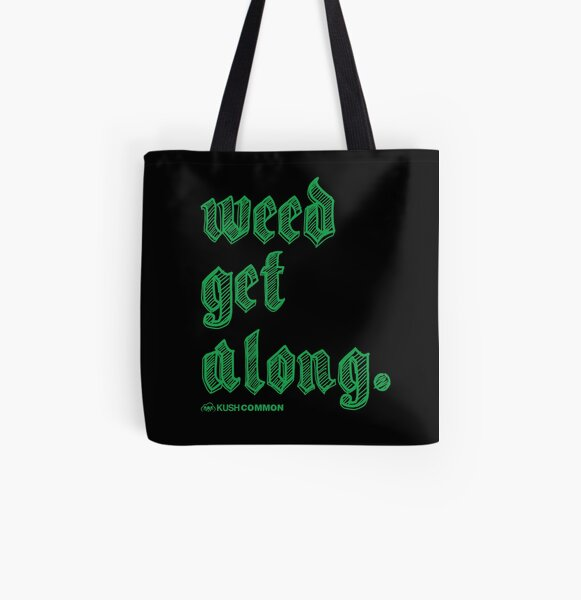 Weed Get Along All Over Print Tote Bag
