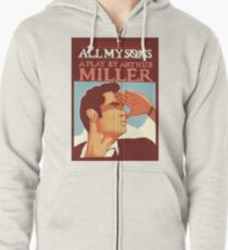 all my sons playbill top Zipped Hoodie