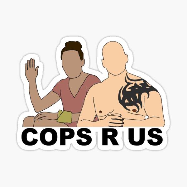 CBS Survivor Sarah & Tony- Cops R Us Sticker