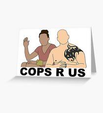 CBS Survivor Sarah & Tony- Cops R Us Greeting Card