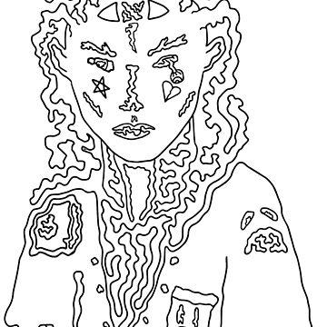 Dark Psychedelic Girl by Vaelz