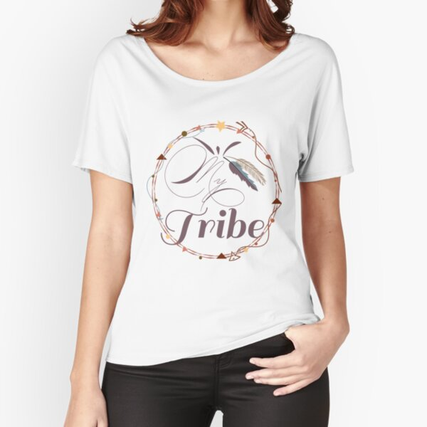 Bohemian, My Tribe, arrows, feathers, triangles, circles Relaxed Fit T-Shirt